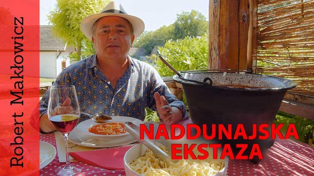 """Klatka z filmu ROBERT MAKŁOWICZ odc.19 """"Naddunajska ekstaza""""."""